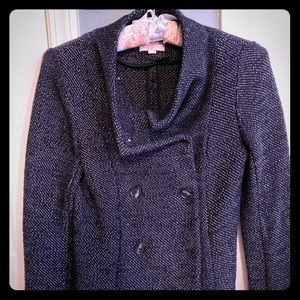 Navy and white speckled LOFT jacket